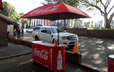 Coke in mobile cart