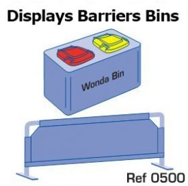 6. Displays, barriers & bins